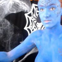Kitty Quinn Mystique Body Paint Cosplay