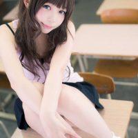 Seemingly Naive Mikan Yuuki Cosplay