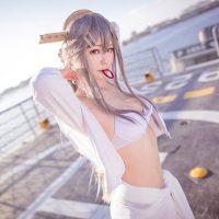 Bright and Beautiful Haruna Cosplay