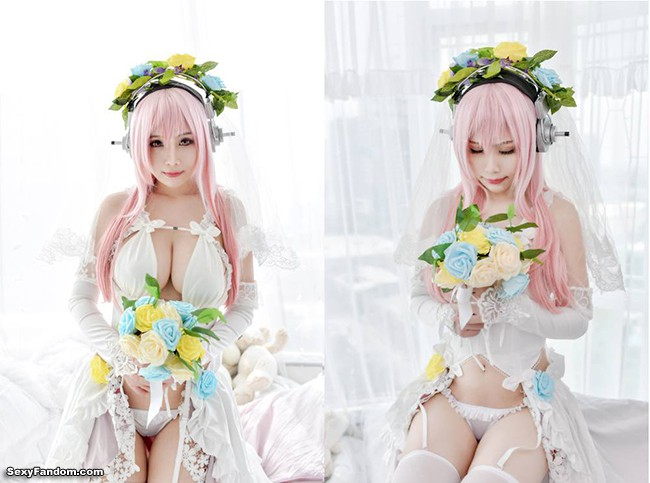Super Sonico Wedding Ver. Cosplay