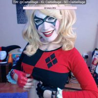 CatieCroft Cosplaying Harley Quinn