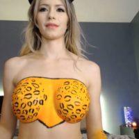 Bridgett_ Looks Like A Happy Leopard Ready To Pounce