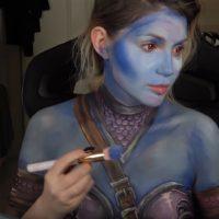 Sylvanas Windrunner Makeup Transformation