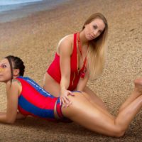 Cosplay Erotica's Devorah And Liuna Head For The Beach