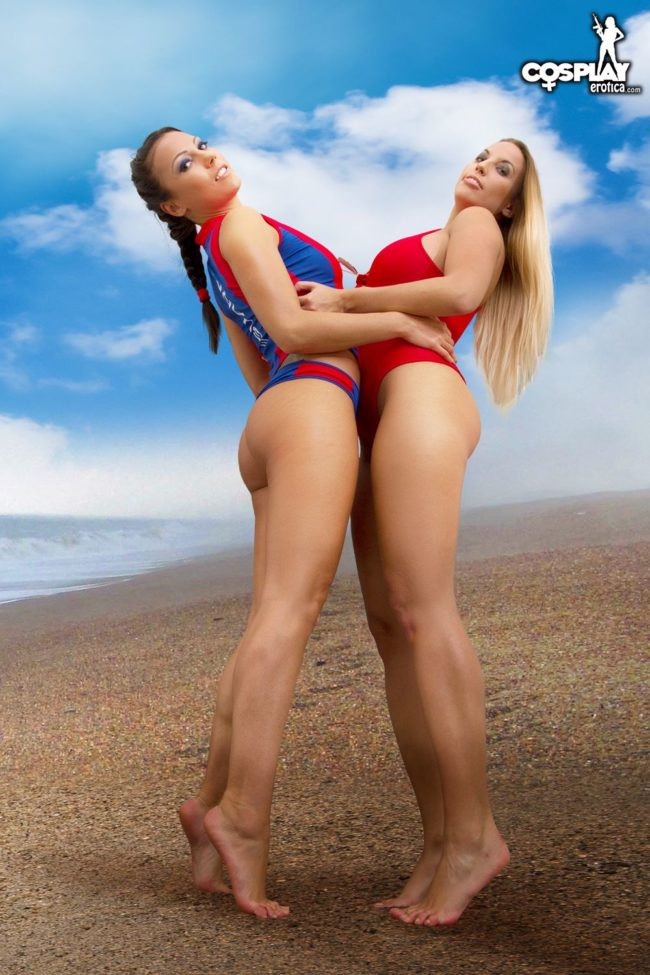 Cosplay Erotica's Devorah And Liuna Head For The Beach