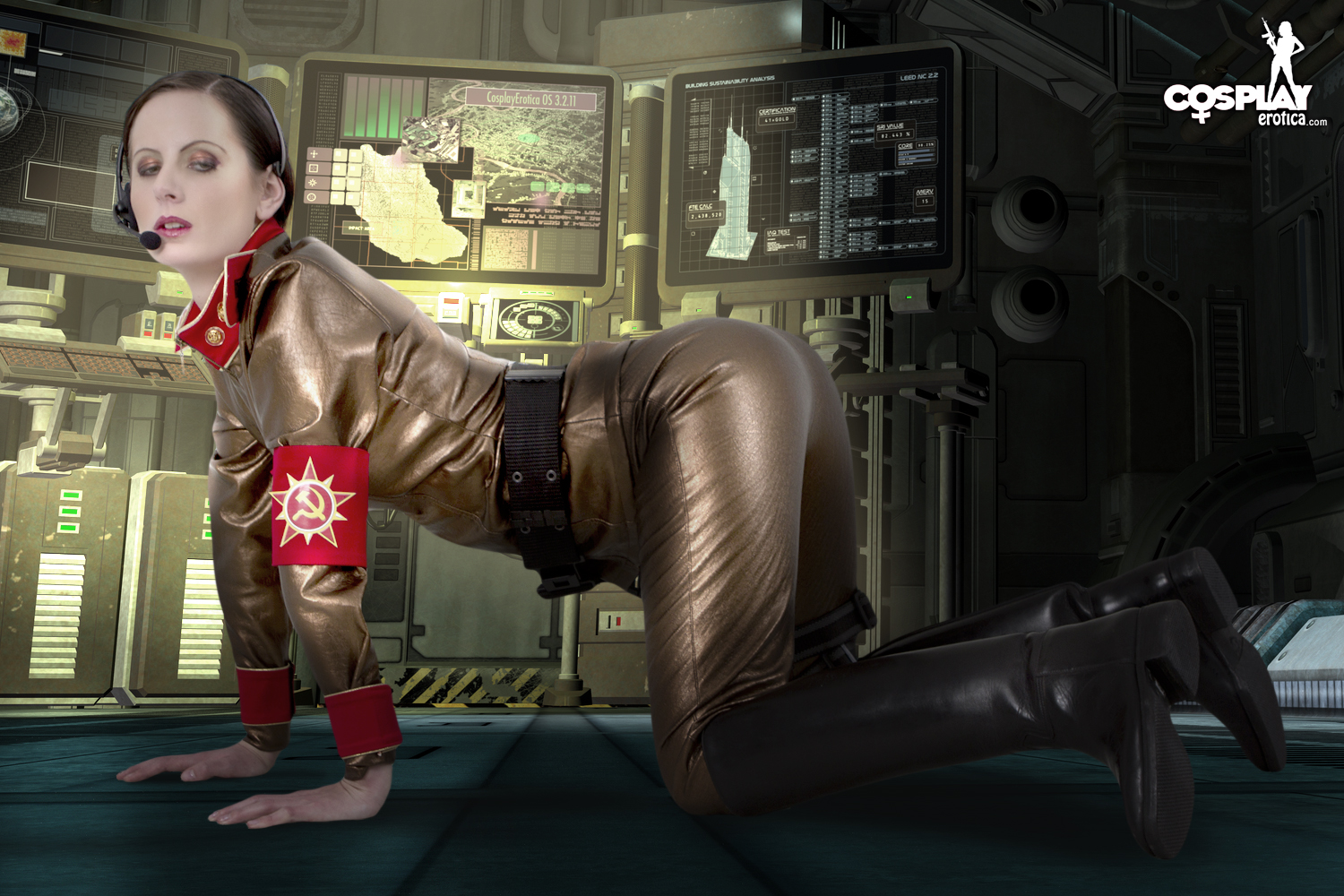 Cosplay Erotica's Tina Is The Commander In Charge