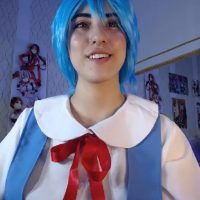 Liittlebunny Becomes A Blue-Haired Anime Beauty