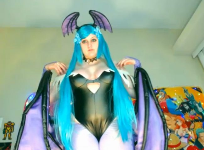 BabyZelda Spreads Her Wings As Morrigan