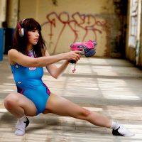 Cassie's D.Va Practices Her Skills In Cosplay Erotica's Shoot