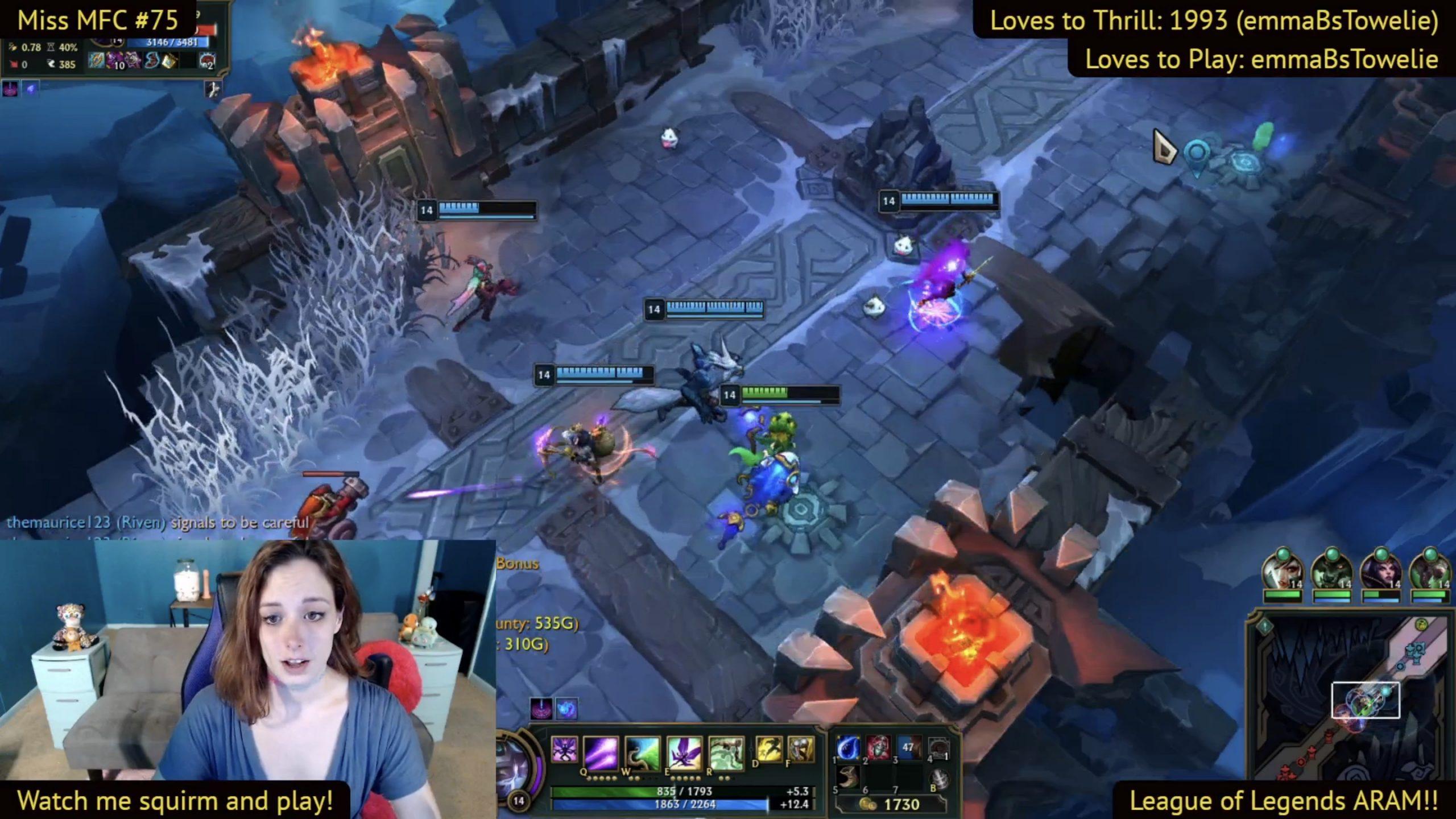 EmmaBcummin Battles It Out In League Of Legends