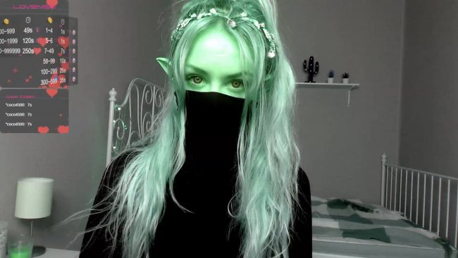 Elven_Dust Leaves Her Mask On