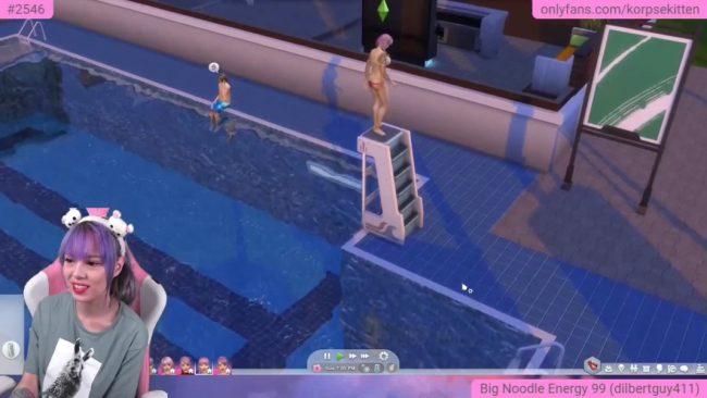 Funny and Lovely KorpseKitten Plays The Sims