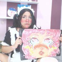 Maid Niccoangel18 Shows Off Her Art