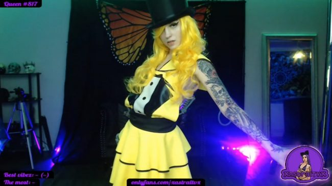 XAstraltvX Flaunts Her Magical Dance Moves