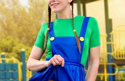 CosplayErotica: Gogo Amuses Herself As Luigi