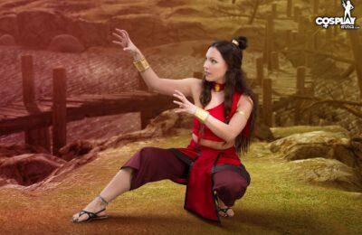 CosplayErotica: Devorah Refines Her Sexy Waterbending Techniques