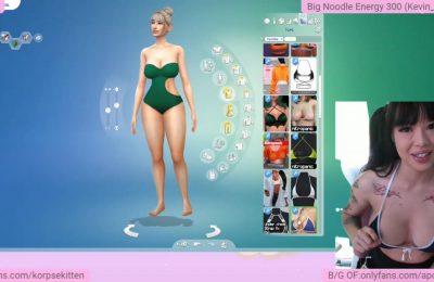 KorpseKitten's Sexy Digital Mischief In Sims 4 Gameplay